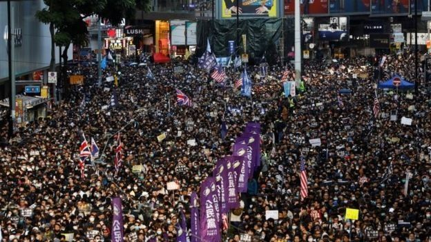 A Hong Kong anti-government protest