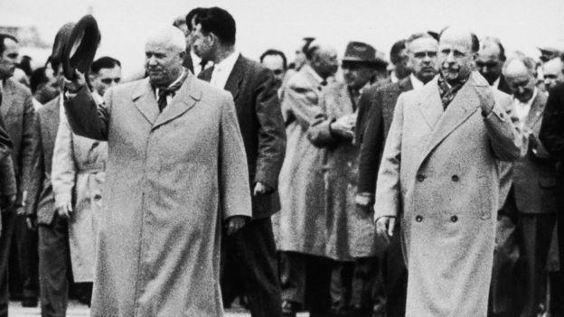 Nikita Khrushchev e Walter Ulbricht