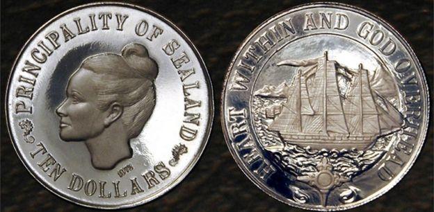 La moneda de Sealand.