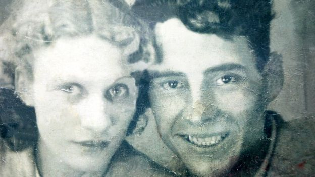 Ken and Margaret Harris on their wedding day