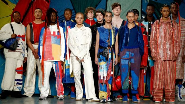 A group of models on the runway