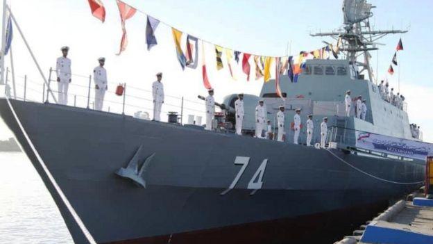 ناو جنگی سهند که ایران میگوید بسیار پیشرفته و روزآمد است و به طور کامل در داخل این کشور تولید شده