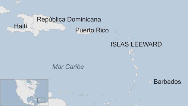 Mapa Islas Leeward