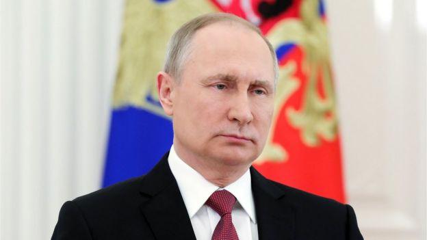 普京2018年3月23 日在莫斯科