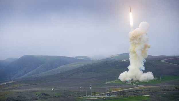 A Boeing-made intercontinental ballistic missile is test-launched in January 2013