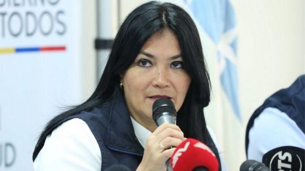 Ministra de Salud de Ecuador, Catalina Andramuno.