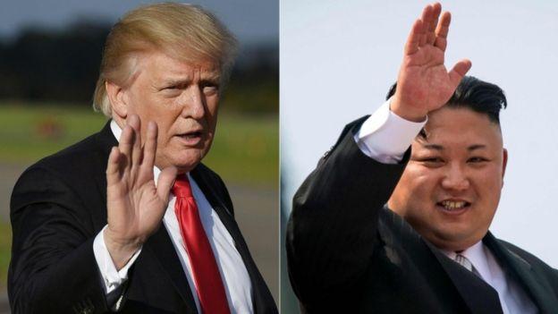 Trump and Kim Jong-un.