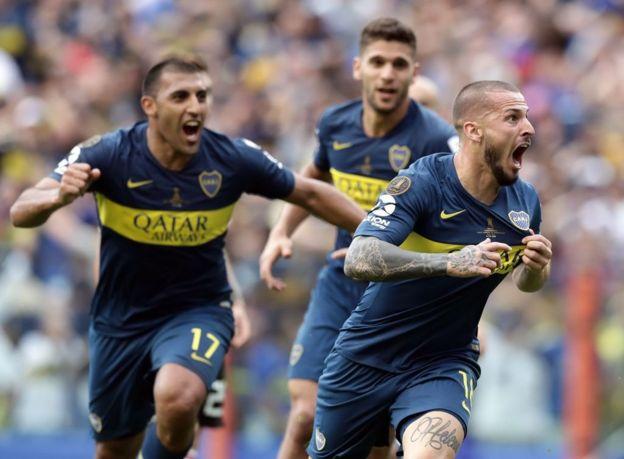 Darío Benedetto marcó el segundo de Boca.