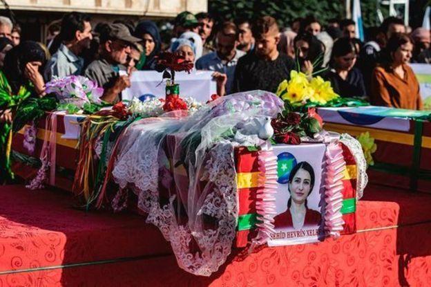 Nevrin Halef'in cenaze töreni