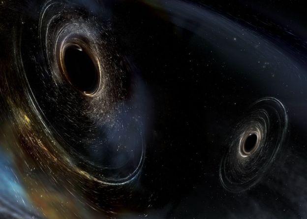 Imagen de ondas gravitacionales.