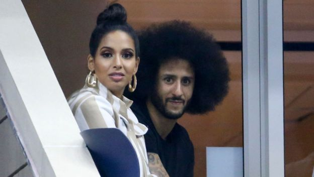 Kaepernick and Nessa in a match of the United States Open tennis.