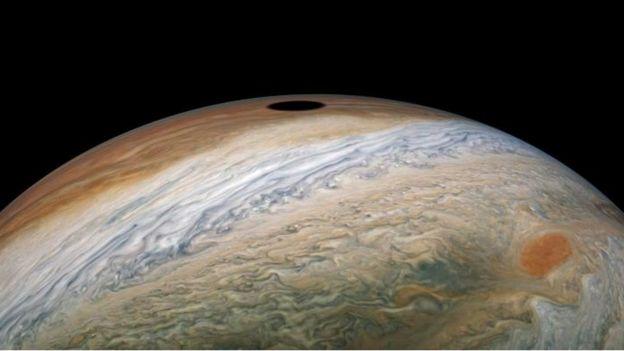 Eclipse solar visto desde Júpiter