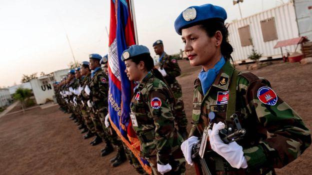 গাও এর সুপারক্যাম্পে কম্বোডিয়ার সেনারা