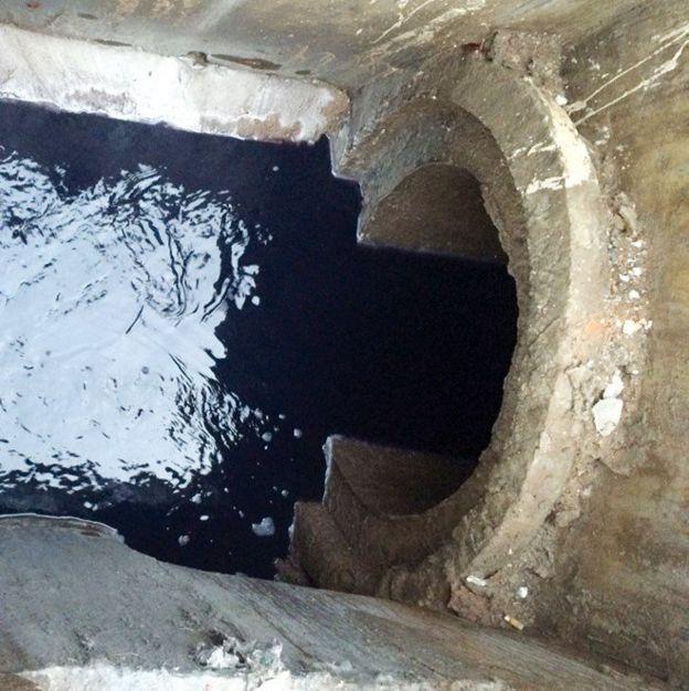 Hình ảnh cống thoát nước mưa của công ty dệt Pacific Crystal