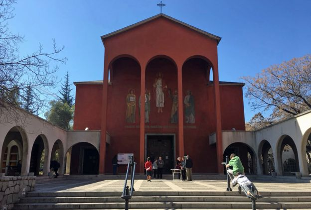La Iglesia del Sagrado Corazón en la parroquia de El Bosque