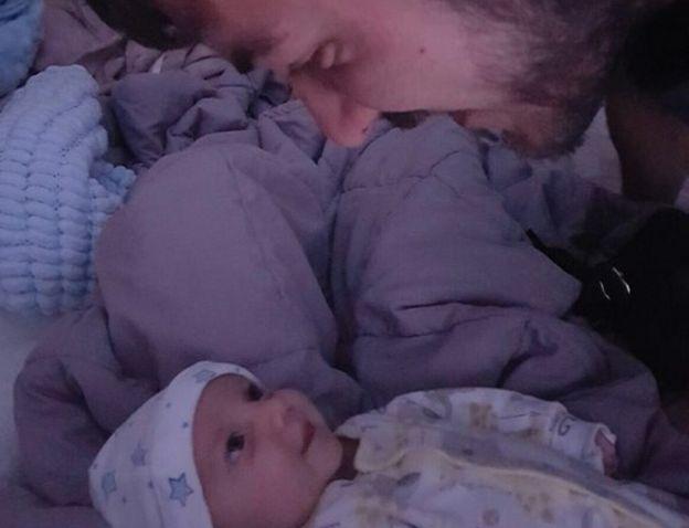 Charlie con su padre