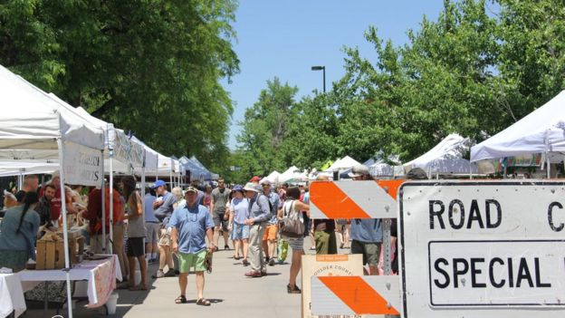 Boulder's weekend farmer's market