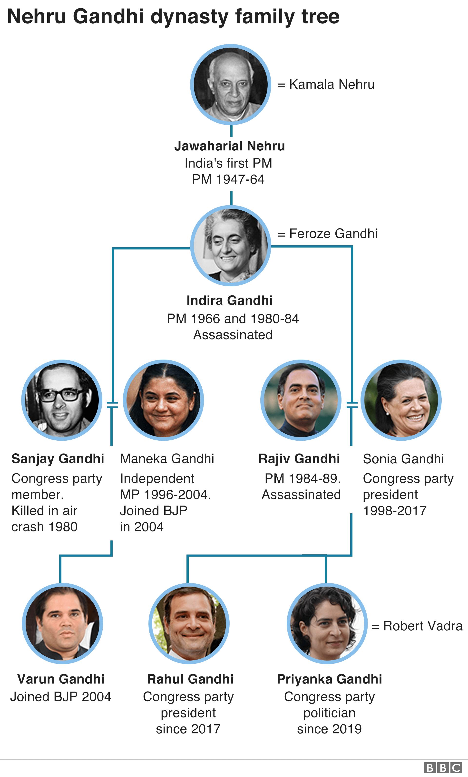 Gandhi family tree