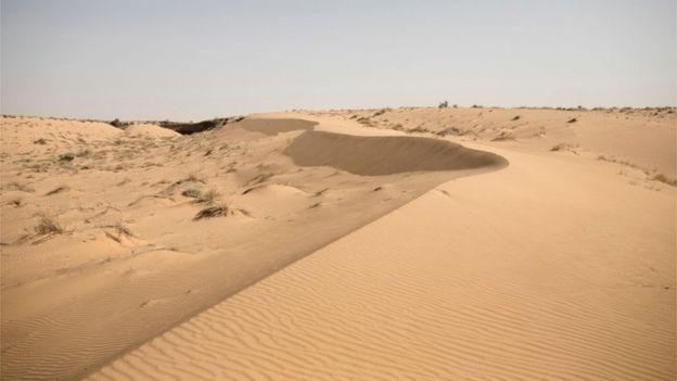 El desierto del Sahara en Mauritania