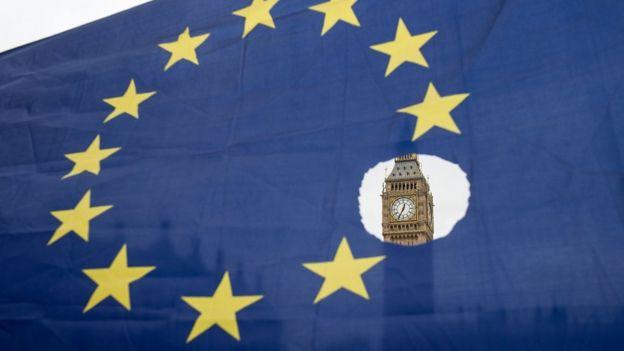 Bendera Uni Eropa untuk demonstrasi