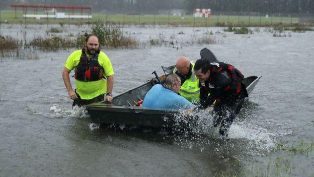 Zona de Carolina del Norte inundada por Florence.