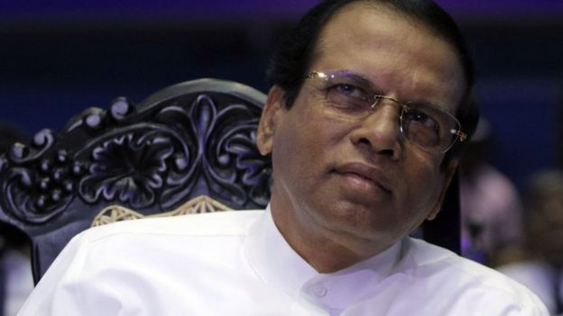 Sri Lankan Cumhurbaşkanı Maithripala Sirisena