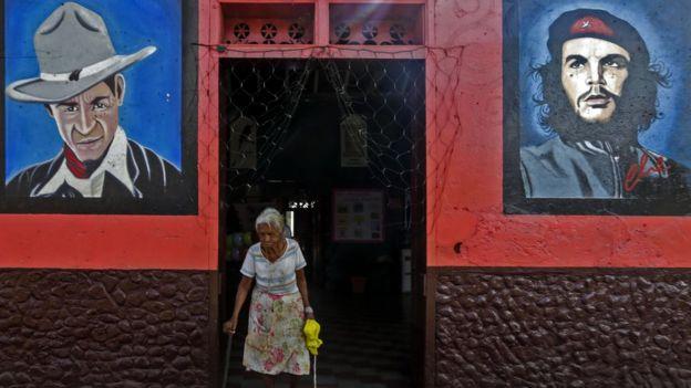 Anciana en Nicaragua
