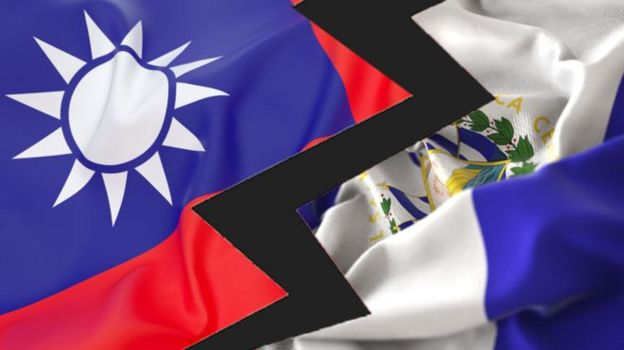 Banderas de Taiwán y El Salvador