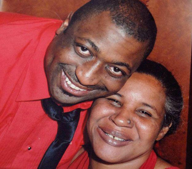 Eric Garner with wife Eswa