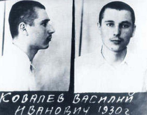 Soviet mugshot of Kovalyov