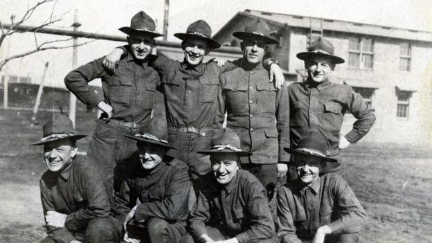 La mayor parte de los soldados estadounidenses procedían de Michigan y de Wisconsin.