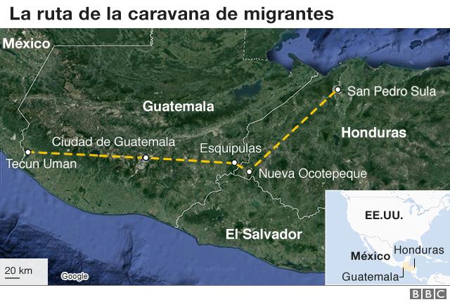 Caravana de migrantes: el puente Rodolfo Robles, un