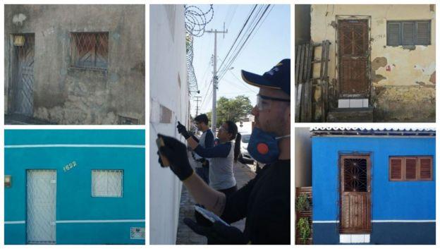 Imagens mostram antes e depois de casas reformadas por voluntários em Natal