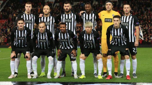 L'équipe du Partizan Belgrade.