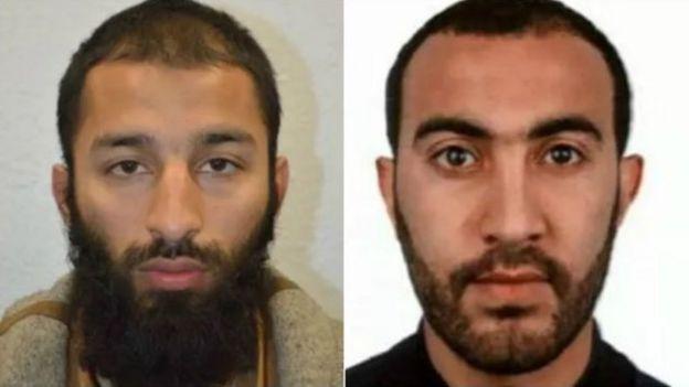 صورة اثنين من منفذي الهجوم حسب الشرطة البريطانية