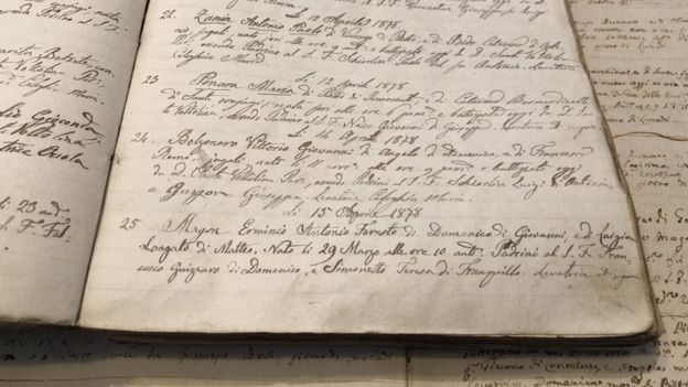 Documentos referentes a Vittorio Bolzonaro