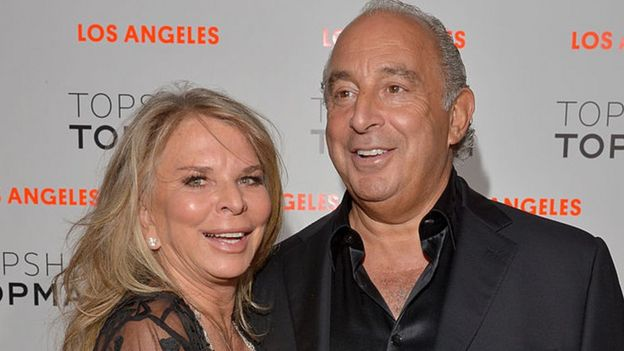 Lady Tina and Sir Philip Green