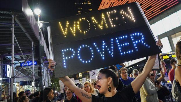 Reivindicación de mujeres en Nueva York