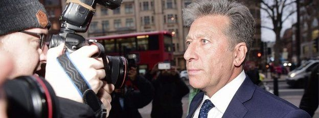 DJ Neil Fox arriving at court ahead of the verdict in his trial
