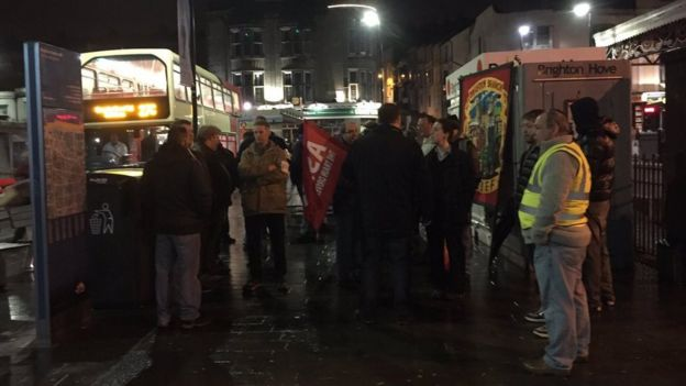 Picket line at Brighton