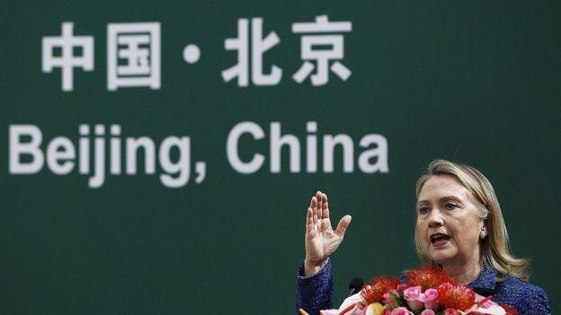 Hillary Clinton en 2012 en Pekín.