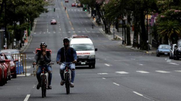 An empty street in San José, Costa Rica