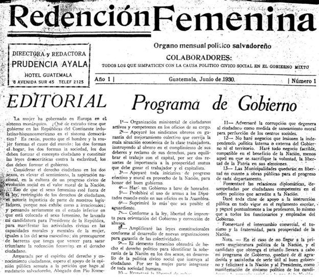 Editorial de Prudencia sobre su programa de gobierno. 1930