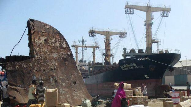 Ships in Somalia