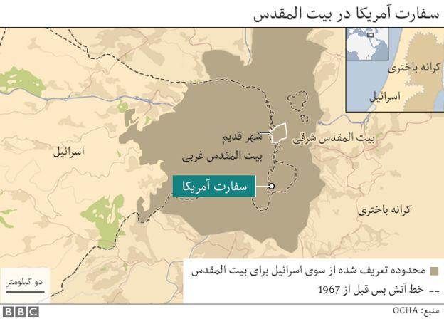 نقشه بیت المقدس