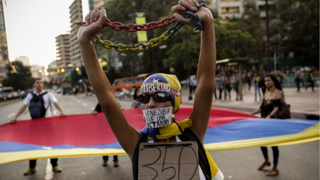 Un manifestante