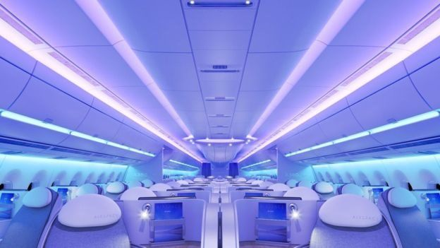 Interior do Airbus A350 XWB