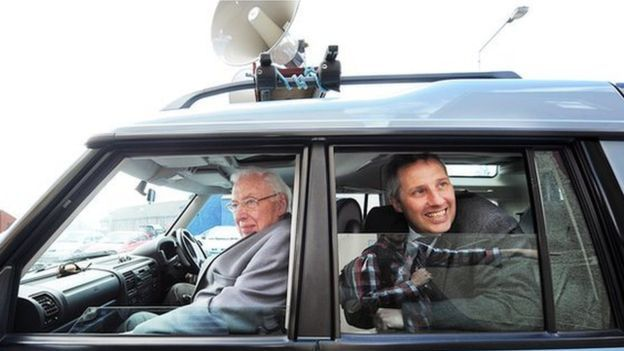 Ian Paisley (right) with his father Ian Paisley
