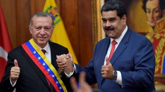 Erdogan y Maduro en Miraflores.