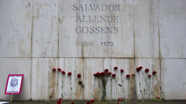 El mausoleo de Salvador Allende en Santiago de Chile